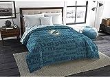 1pc NFL Miami Dolphins Comforter Full, Blue, Orange, Football Themed, Unisex, Fan Merchandise, National Football League, Sports Patterned Bedding, Team Logo, Team Spirit
