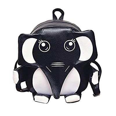 chic KSB Cute Panda and Elephant Backpack PU Leather School Shoulder Bags.