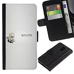 All Phone Most Case / Oferta Especial Cáscara Funda de cuero Monedero Cubierta de proteccion Caso / Wallet Case for Samsung Galaxy S5 V SM-G900 // Einstein Quote
