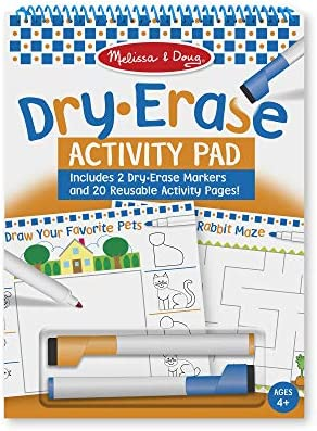 Melissa & Doug 20-Page Reusable Dry-Erase Activity Pad with 2 Markers (Mazes, Games, Pictures, More) – The Super Cheap