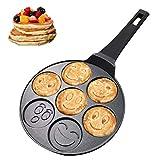 Vinchef Silver Dollar Pancake Pan Nonstick, Cast