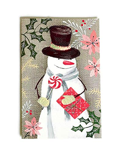 AMERICAN GREETINGS Christmas Boxed Cards, Bulk Set of 32 Holiday Season Greeting Cards and Envelopes, Cute Glitter Snowman Holding Present and Candy (Snowman)