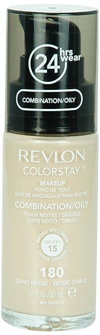 122 opinioni per REVLON, Fondotinta Colorstay per pelli grasse, flacone con dispenser, 30 ml, N°
