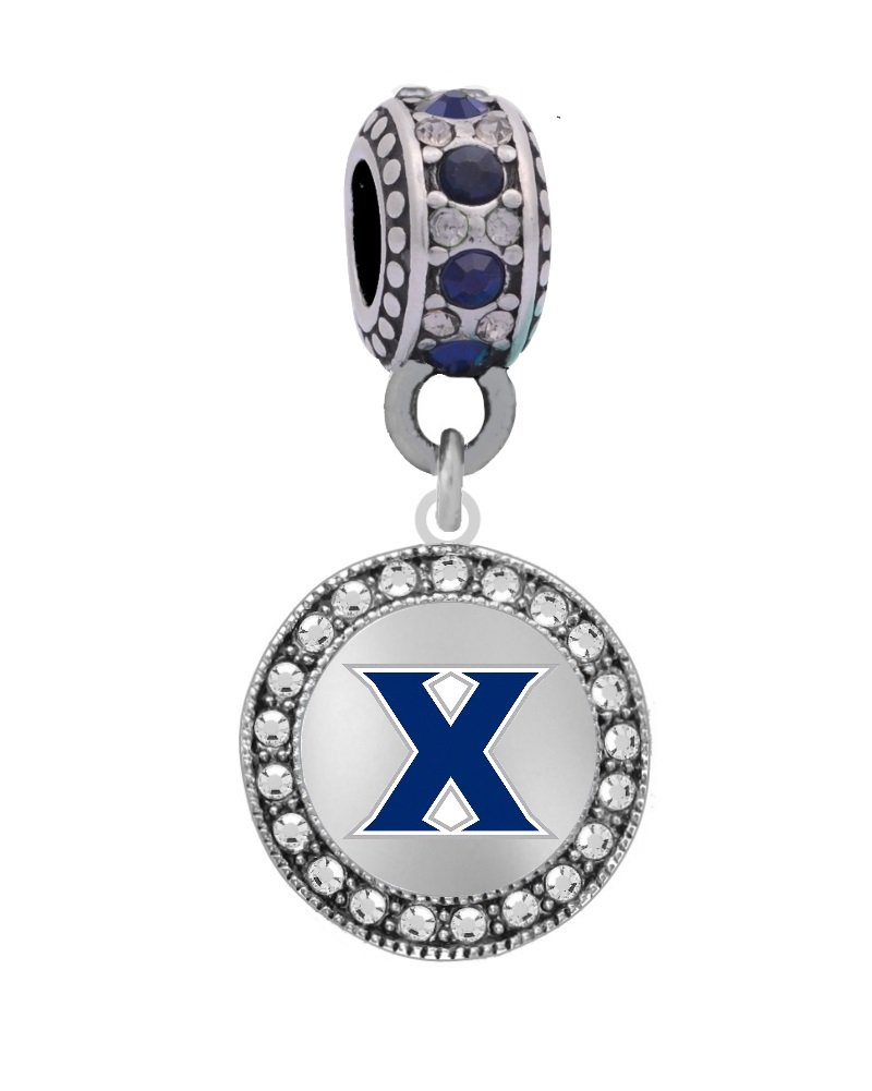 Final Touch Gifts Xavier University Logo Charm Fits European Style Large Hole Bead Bracelets