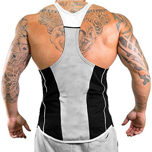 Athletic White Black Canotta Uomo Fitness Amanti Per Da Sportiva Blue Gli Del UUvzwxrq