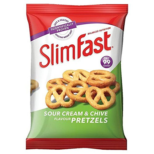 SlimFast Snack Bag Sour Cream & Chive Pretzels - 23g