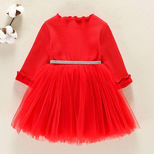Rouge longues Étoile Garza Vovotrade Fille Plus Petite pull Filles Vêtements Conseils Velours Pettiskirt ❣ de A Robe manches Cinq enfants Princesse PYYgRwqO