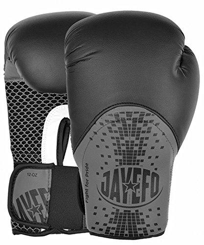 Jayefo Trend Makers Leather Boxing MMA Muay Thai Kick Boxing Sparring Gloves  (Black e558e0e8c931b