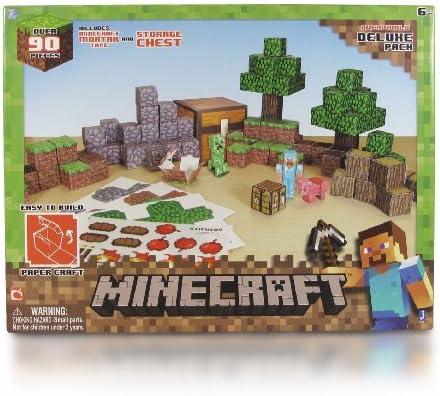 5 X Papier Minecraft Monde Pack Deluxe Amazon Fr Cuisine