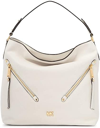 MICHAEL Michael Kors Evie Large Pebbled Leather Hobo Bag