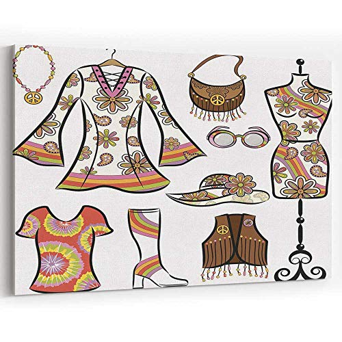 Vintage 1960s Clothing Set Canvas Art Wall Dector Painting Wall Art Picture Print on Canvas