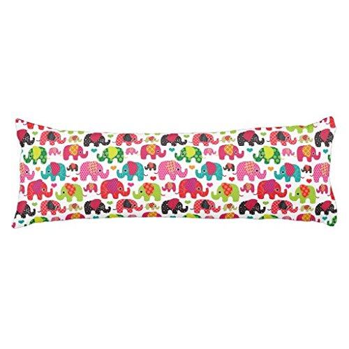 Retro Elephant Kids Pattern Wallpaper Body Pillow Cover (54 Wallpaper)