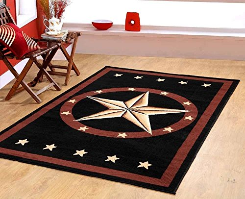 Furnish my Place Texas Western Star Rustic Cowboy Decor Area Rug, (A Star Furniture)