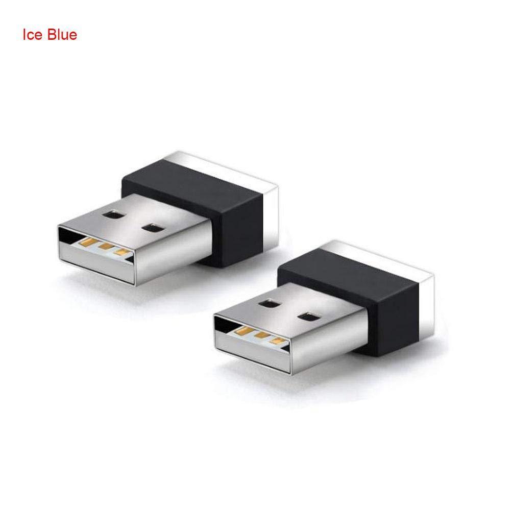 haodene USB Licht fü r Auto Innenbeleuchtung Atmosphä re Licht auf USB-Schnittsstelle adaptiert von Zigarettenanzü nder Universal Heim Schreibtisch Laptop Plug and Play Rot