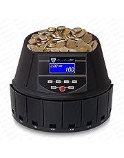 Contador de monedas Euro Máquina monedas clasificadora Contar Dinero Sr de 1450LCD de Securina24®, color Schwarz - BBB