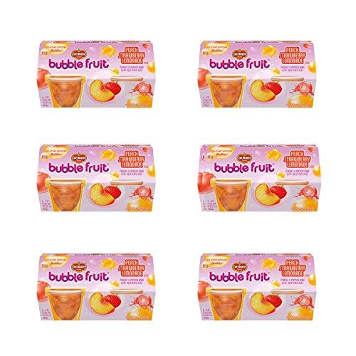 Del Monte Bubble Fruit, Peach Strawberry Lemonade, (Each 4 Count of 4 oz Cups) 16 oz, Pack of 6
