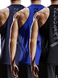 Neleus Men's 3 Pack Mesh Workout Muscle Tank