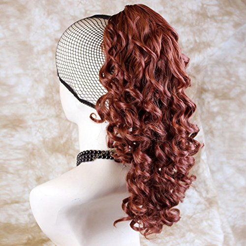 Fox Red Ponytail Irish Dance Hair Extension Spiral Curly Hair Piece (Red Ponytail Wig)