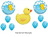 IT'S A BOY RUBBER DUCKY BABY SHOWER Balloons Decorations Supplies Duck by Anagram by Anagram