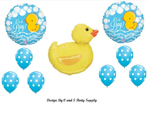 IT'S A BOY RUBBER DUCKY BABY SHOWER Balloons Decorations Supplies Duck by Anagram by (Duck Baby Shower Decorations)