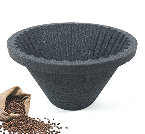 Paperless Pour Over Coffee Filters Reusable Cone Dripper Eco-Friendly Pottery Silicon Carbide Remove Impurities Water Clear Smooth Unlock Flavor