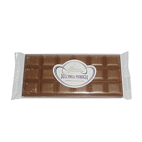 3 x gr 100 barras de chocolate de leche Dulcinea Perugia Tabla de alta calidad,