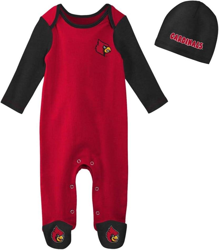 OuterStuff Infant Louisville Cardinals Bodysuit Set Baby Sleeper /& Hat