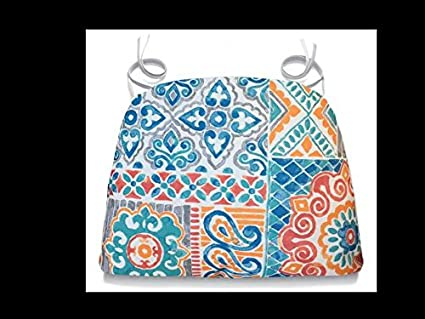 Outdoor Chair Cushions Patio Chair Cushions Chair Pads With Ties Coral  Suzani 16 X 16 Inch
