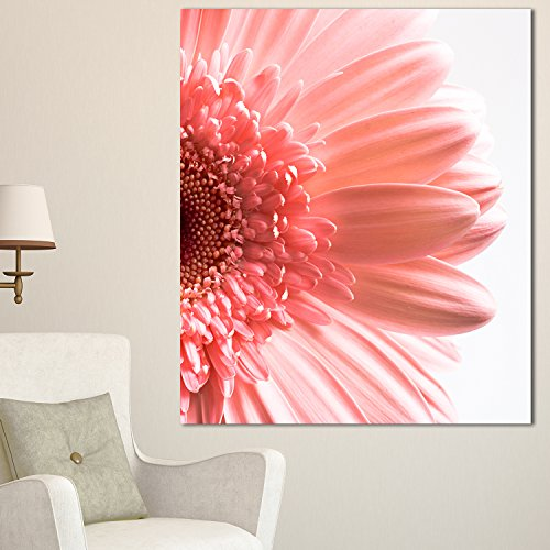 Large Pink Daisy Flower Petals Canvas Artwork - pink home wall art decor