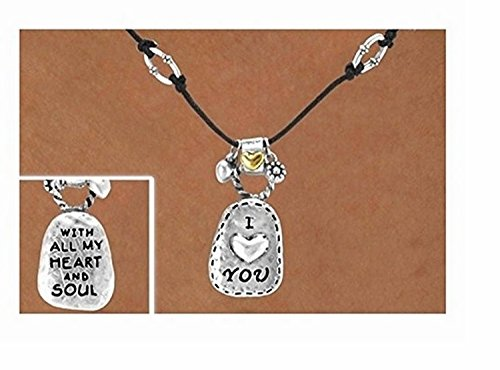 ''I Love You'' Double Sided Necklace & Earring Set by Lonestar Jewelry