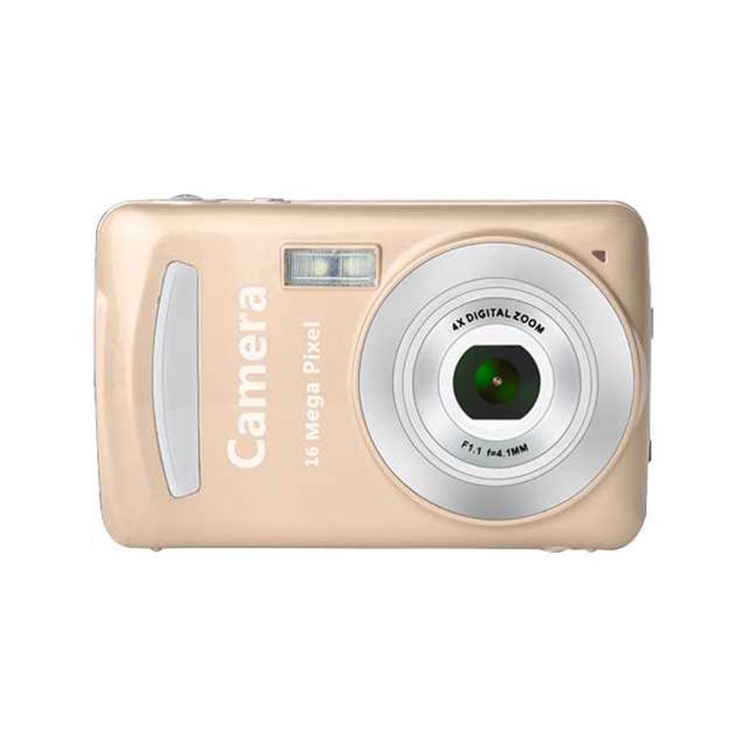 oineke 丈夫 実用的 16万画素 コンパクト 家庭用デジタルカメラ  ゴールド B07MKJZWDB