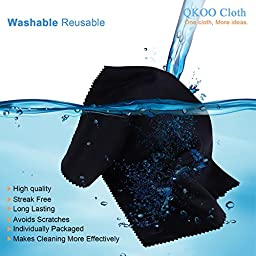 Microfiber Cleaning Cloths (15 Pack) - QKOO Cleaning Cloths - for Canon Nikon Sony Pentax Camera Lenses, Camera Screens, Digital DSLR Cameras, Digital SLRs, Glasses, Surface Tablet, PSP Screen, Monitor, Smartphones, Screens, Cell Phones, Tablets, LCD TV a