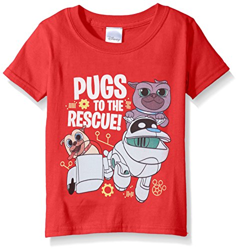 Disney Toddler Puppy Dog Pals Short Sleeve T-Shirt, Red, 3T