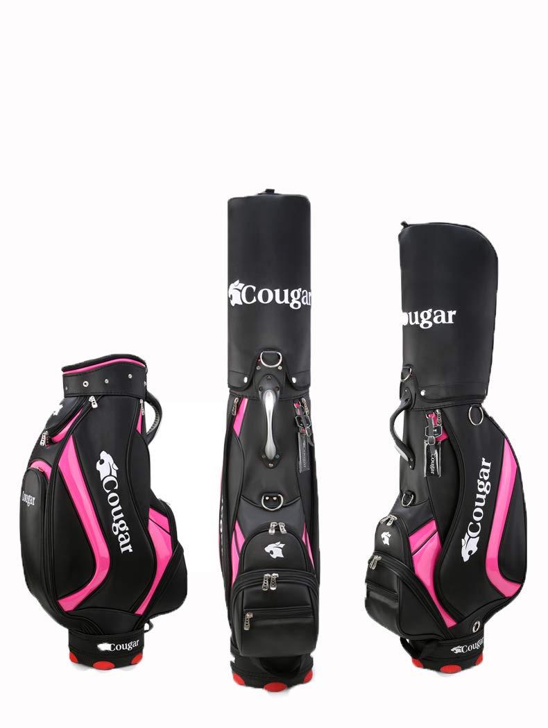ゴルフバッグ-刺繍ゴルフボールバッグ、防水 PU Black 素材、女性のゴルフ標準ボールバッグに適した PU、13クラブを収容することができます Black B07Q8J4YJ4, けいとのコーダ:72ef0447 --- lagunaspadxb.com