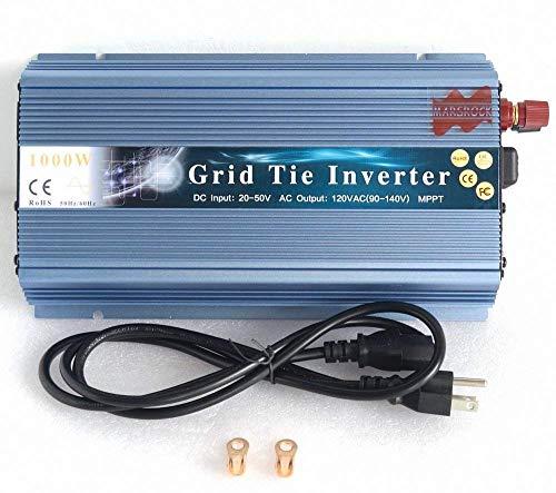 Mars Rock 1000W Grid Tie Micro Solar Inverter, 20-50VDC to 90-140VAC MPPT Pure Sine Wave Inverter for 1200W 30V, 36V Solar Module System (AC120V Gold) by Mars Rock (Image #2)