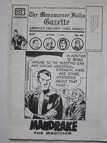 Menomonee Falls Gazette #94, Oct. 1, 1973. Superman, Tarzan, James Bond, Flash Gordon, Modesty Blaise, Steve Canyon, Johnny Hazard, Rick O'Shay
