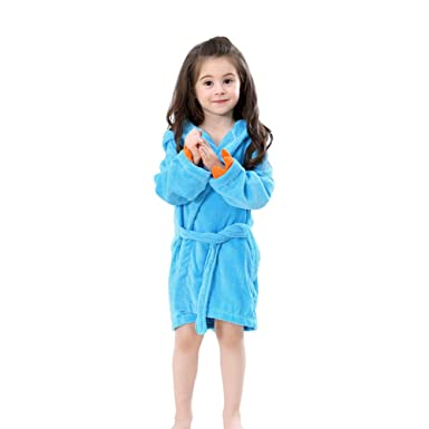 Image Unavailable. Image not available for. Color  chinatera Toddler  Bathrobe Cartoon Dinosaur Hooded Fleece Towel Robe Kids Baby Boys Girls  Pajamas Clothes ... d66718c99
