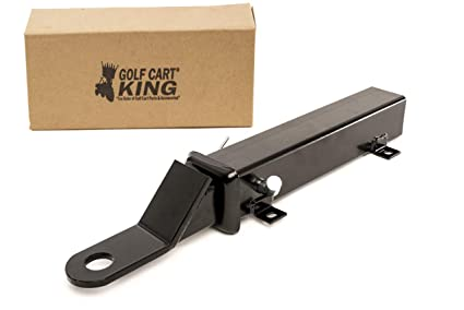 Amazon.com : Rear Seat Trailer Hitch with Receiver for Step On Back on golf cart awning, golf cart speed governor, golf cart air conditioner, golf cart handles, golf cart key switch, golf cart steering wheel,