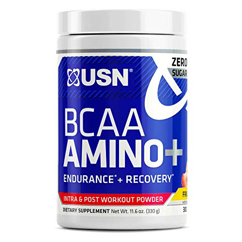 USN Supplements BCAA Amino + Supplement, Fruit Punch, 11.60 Ounce