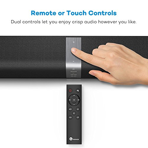TaoTronics Sound Bar, 34-Inch Soundbar (Upgraded Sound Quality, Deep Bass, Wired and Wireless Bluetooth Speaker with Touch and Remote Control) by TaoTronics (Image #4)