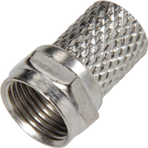 Nickel Plated Twist-On F Connector - RG-6 - 25-Pa (Twist Steren Rg6)