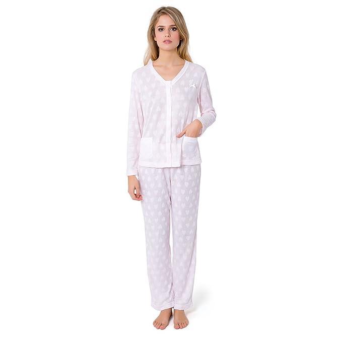 Pijama Largo Lencero Corazones