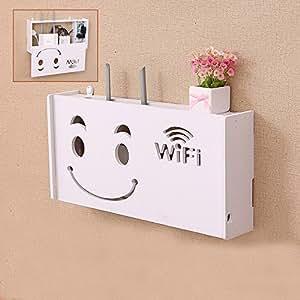 Cable box gesti n organizador para ocultar wifi router modem y protector de sobretensi n power - Caja para ocultar cables ...