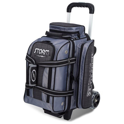 ts 2 Ball Rolling Thunder Bowling Bag- Plaid/Gray/Black ()