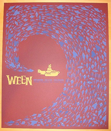 (2008 Ween - Tulsa Red Variant Concert Poster by Todd Slater)