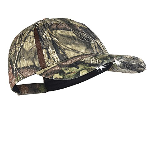 Panther Vision POWERCAP CAMO & Blaze LED Hat 25/10 Ultra-Bright Hands Free Lighted Battery Powered Headlamp – Structured