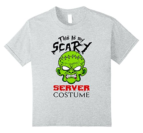 Kids Halloween T-Shirt Server Costume 10 Heather Grey