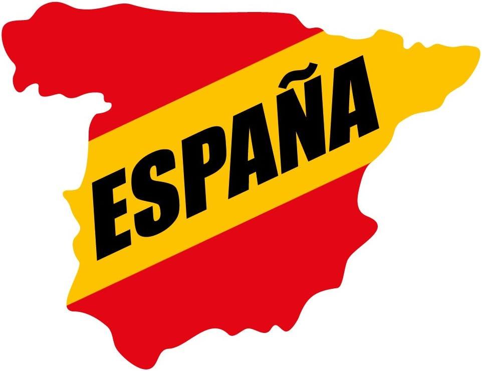 Artimagen Pegatina Mapa España Texto Negro 90x70 mm.: Amazon.es ...