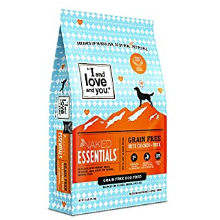 """""""I and love and you"""" Naked Essentials Dry Dog Food - Natural Grain Free Kibble, Chicken + Duck, 23-Pound Bag"""