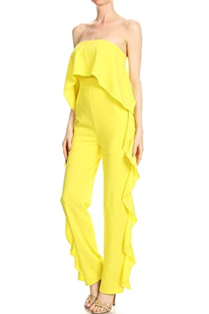 37d6f90a322 Amazon.com  Yellow Jumpsuit for Women  Clothing